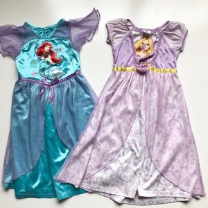 Girls Disney Princess Nightgowns Ariel & Rapunzel